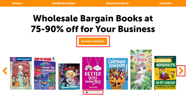 Book Depot Homepage Redesign - Main Banner