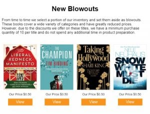 Blowouts email example