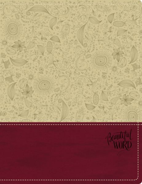 KJV Beautiful Word Bible (Taupe/Berry Italian Duo-Tone)