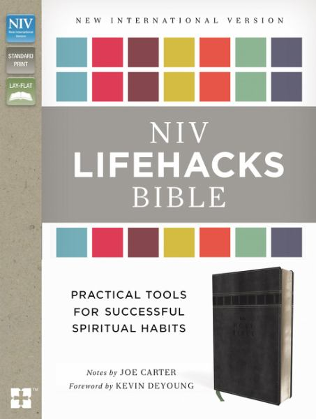 NIV Lifehacks Bible (Charcoal Italian Duo-Tone)