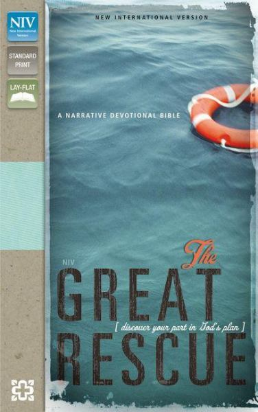 NIV The Great Rescue (NIV,Text,Sea Glass/Chocolate Italian Duo-Tone)