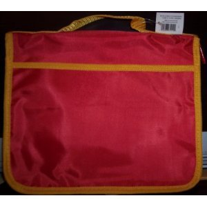 Book & Bible Cover (Red/Yellow Trim)