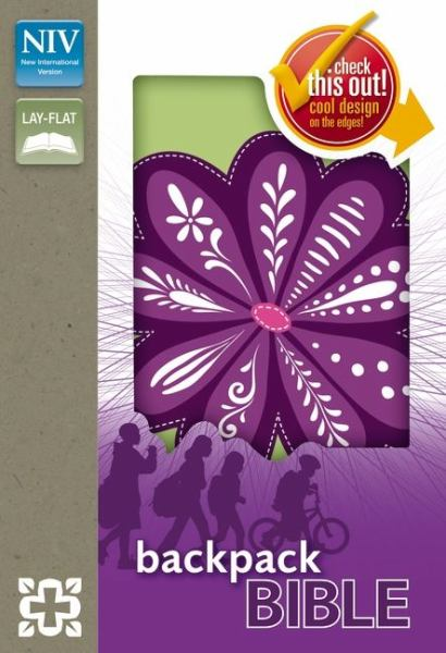 NIV Backpack Bible (Purple Blossom, Italian Duo-Tone)