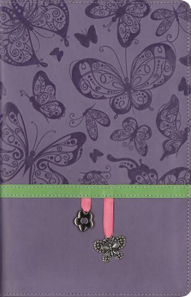 NIV, Charm Bible Collection (Lavender Butterflies, Italian Duo-Tone)