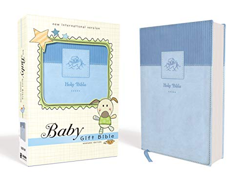 NIV, Baby Gift Bible (Blue Leathersoft)