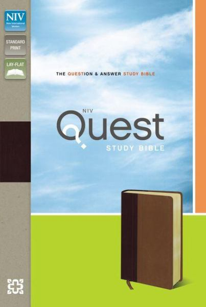 NIV Quest Study Bible (Burgundy/Tan Italian Duo-Tone, Gilded-Gold Pages)