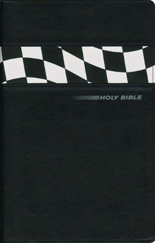 NIV Stock Car Racing Holy Bible (Black, Italian Duo-Tone)