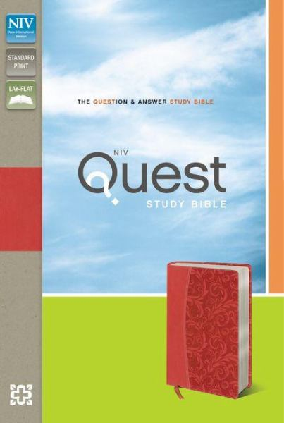 NIV Quest Study Bible (Coral Italian Duo-Tone, Gilded-Silver Page Edges)