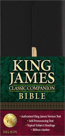 Classic Companion Bible (KJV, 1024S, Black Bonded Leather, Gilded-Gold Page Edges, Snap-Flap Closure)
