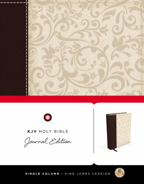 KJV Holy Bible Journal Edition (4583B Brown/Cream Linen)