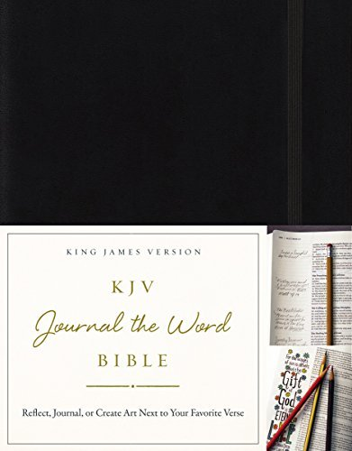 KJV Journal the Word Bible (Black Hardcover)