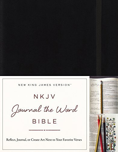 NKJV Journal the Word Bible (Black Hardcover)
