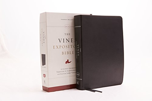 The NKJV, Vines Expository Bible (3373BK - Black Leathersoft)