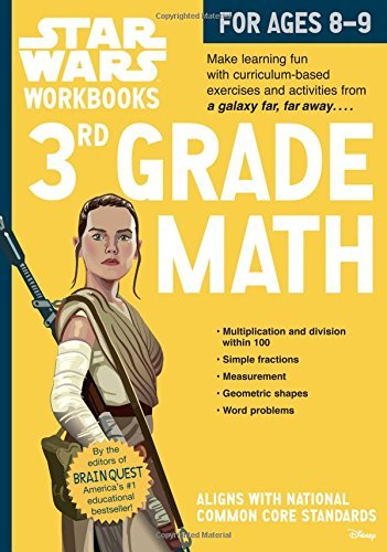 3rd Grade Math Star Wars Workbook (Ages 8-9) (Softcover)