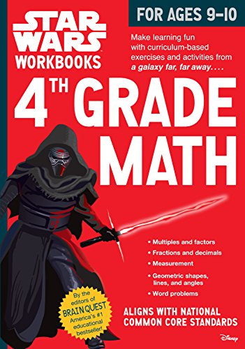 4th Grade Math (Star Wars Workbooks) (Paperback)