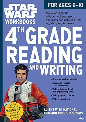 4th Grade Reading and Writing Star Wars Workbook (Ages 9-10) (Softcover)