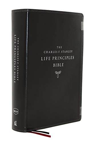NKJV, The Charles F. Stanley Life Principles Bible (7463BK Black, Leathersoft, 2nd Edition)