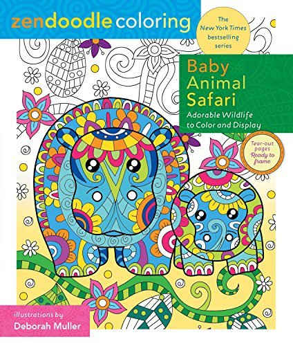 Baby Animal Safari Zendoodle Coloring