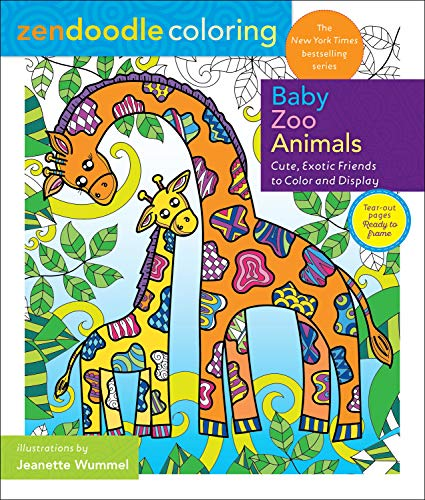Baby Zoo Animals (Zendoodle Coloring)