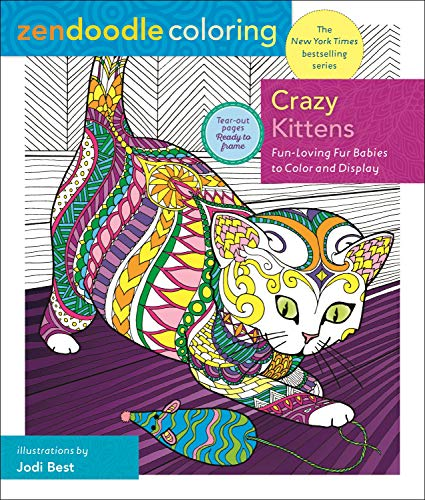Crazy Kittens (Zendoodle Coloring)