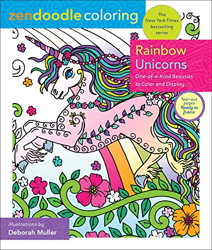 Rainbow Unicorns (Zendoodle Coloring)