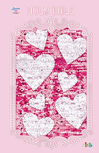 ICB, Sequin Sparkle and Change Bible (Pink Hardcover)