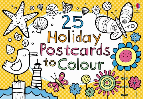 25 Holiday Postcards to Colour (Paperback)