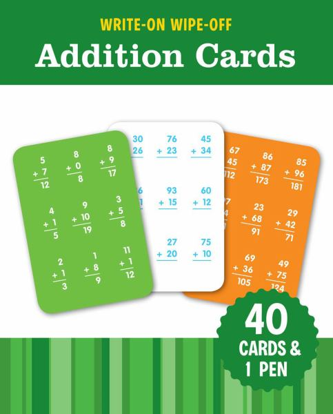 Write-On Wipe-off Math Cards: Addition