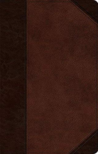 ESV UltraThin Bible (TruTone, Brown/Walnut, Portfolio Design)