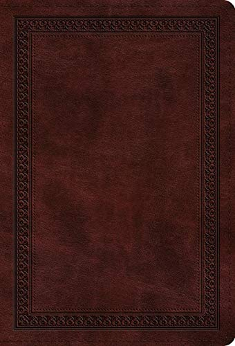 ESV Large Print Compact Bible (TruTone, Mahogany, Border Design)