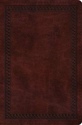 ESV Compact Bible (TruTone, Mahogany, Border Design)