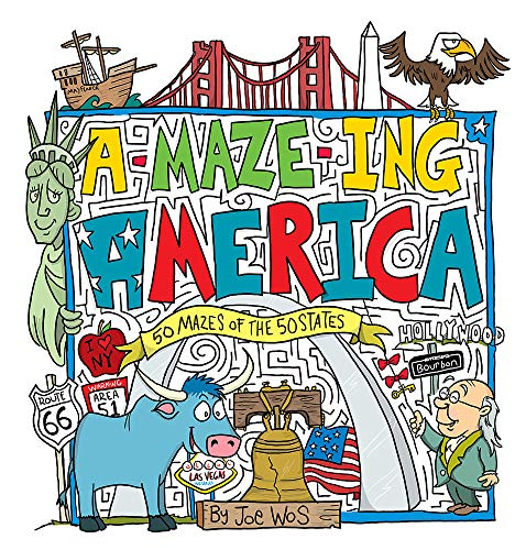 A-MAZE-ING America: 50 Mazes of the 50 States (Paperback)