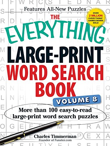 Large-Print Word Search Book, Volume 8 (The Everything)