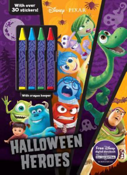 Halloween Heroes Coloring & Activity Book with Crayons (Disney Pixar)