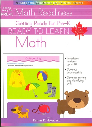Getting Ready for Pre-K Math (Ready to Learn, Canadian Curriculum Series)
