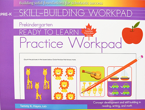 Prekindergarten Skill Building Practice Workpad(Ready to Learn, Canadian Curriculum Series)