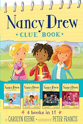 Nancy Drew Clue Book, 4 Books in 1! (Pool Party Puzzler/Last Lemonade Standing/Star Witness/Big Top Flop)