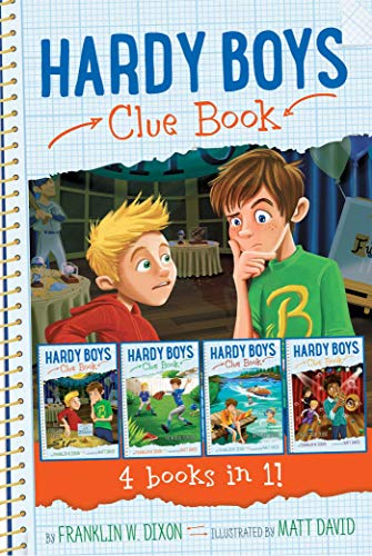 Hardy Boys Clue Book, 4 Books in 1! (The Video Game Bandit/The Missing Playbook/Water-Ski Wipeout/Talent Show Tricks)
