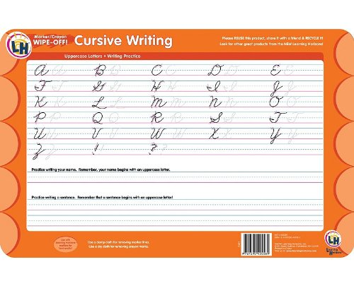 Cursive Writing Wipe Off Activity Mat