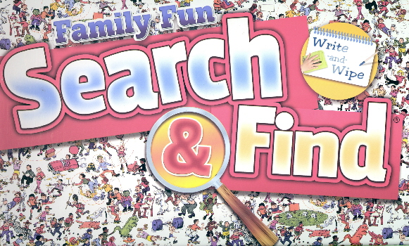 Family Fun Search & Find (Write-and-Wipe)