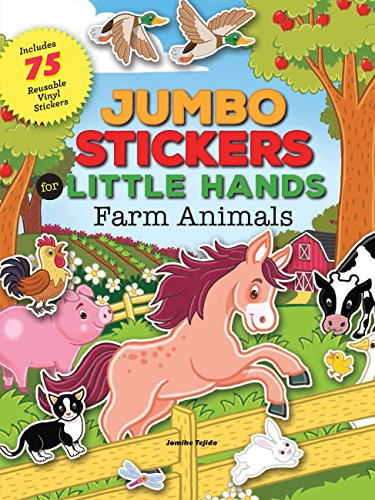 Farm Animals Jumbo Stickers for Little Hands