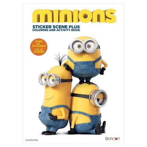 Minions: Sticker Scene Plus Coloring and Activity Book