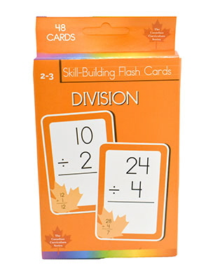 Division Skill Building Flash Cards (Grade 2-3, Canadian Curriculum Series)