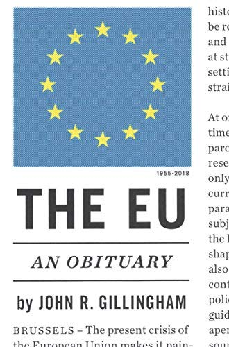 The EU: An Obituary